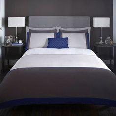 J by Jasper Conran Designer grey 'Maddox' bed linen- | Debenhams