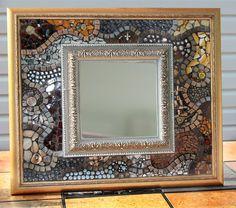 Beautiful Mosaic Mirror - like the double frames
