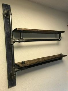 Extremely strong I love and enjoy creating these industrial shelves. I can build to any configuration (including corners and multiple levels), they can really transform any space. Can be handcrafted with 1 2 or 3 4 black iron pipe and beautiful pieces a Industrial Design Furniture, Industrial Shelving, Pipe Furniture, Rustic Furniture, Industrial Pipe, Furniture Ideas, Furniture Stores, Furniture Design, Furniture Vintage