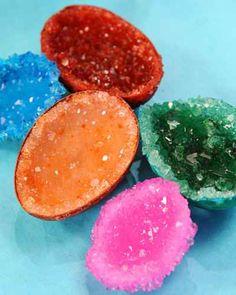 HACEMOS PIEDRAS PRECIOSAS CON HUEVOS (Geodas artificiales) » Actividades infantil