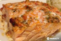 Amerikai lazac Salmon Recipes, Fish Recipes, Fish And Seafood, Quiche, Food And Drink, Yummy Food, Vegan, Dishes, Chicken