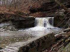 McCormick's Creek State Park - Owen County, Indiana - This is the oldest state park in Indiana, dedicated on July 4, 1916.  I remember going there as a child, falling down a hill, and getting bitten by hundreds of red fire ants.