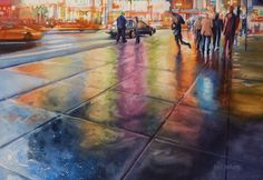 Watercolor Workshop: Painting Nighttime in the City. Paul Jackson