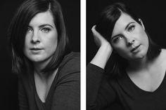 A black and white, in studio portrait photography session in Toronto, Ontario. Studio Portrait Photography, Headshot Photography, Studio Portraits, Professional Portrait, Ontario, Toronto, Black And White, Black N White, Professional Headshots