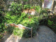 Pebble Mosaic Rug Flower Bed 2 by leev63, via Flickr