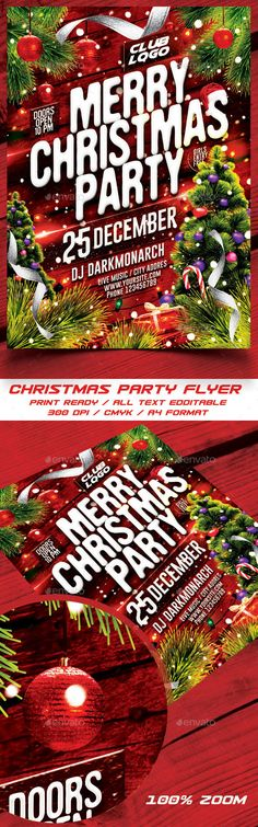Merry Christmas Party Flyer Template PSD #design #xmas Download: http://graphicriver.net/item/merry-christmas-party-flyer/13872796?ref=ksioks