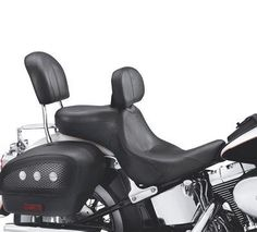 A perfect combination of foam density and shape has created our most comfortable seat for long haul touring. Both rider and passenger will be comfortable riding to Sturgis and back with the wide seating areas. Harley Davidson Motor, Luggage Rack, Sit Back, Rear Seat, Fit S, Touring, Seating Areas, Long Haul, Cars