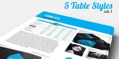 5 High-Quality Free InDesign Table Styles