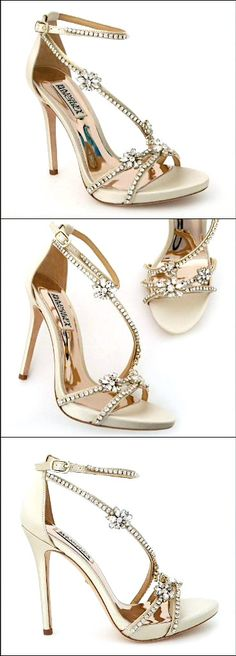 Sexy, sparkling platform sandals defined. Bridal Sandals by Badgley Mischka, style: Hodge.