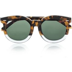 Karen Walker Super Duper Thistle round-frame acetate sunglasses (€245) ❤ liked on Polyvore featuring accessories, eyewear, sunglasses, glasses, sunnies, tortoiseshell, acetate sunglasses, tortoiseshell sunglasses, uv protection sunglasses and oversized glasses