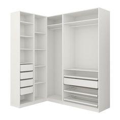 Closet Organizers 425168021070230907 - IKEA PAX Penderie d'angle Source by equinature Ikea Pax Corner Wardrobe, Corner Closet, Ikea Closet, Pax Wardrobe, Closet Shelves, Built In Wardrobe, Attic Wardrobe, Attic Closet, Bathroom Closet