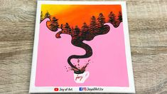 Sunset Acrylic Painting for Beginners   Joy of Art #177 Small Canvas Art, Acrylic Painting For Beginners, Painting & Drawing, Tube, Joy, Sunset, Drawings, Glee, Sketches