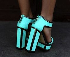 coolest block heels ever...reminds me of tron