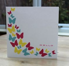 Blush Crafts: Butterfly punch card