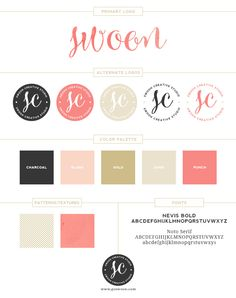 Love the color scheme - Branding Board for Swoon Creative Studio | www.goswoon.com