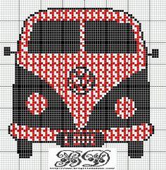 free cross stitch patterns - vintage transportation