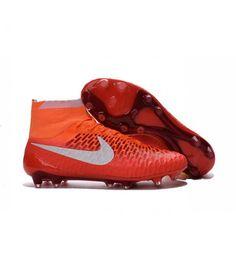 Acheter 2016 Nouvelle Hommes Nike Magista Obra FG Orange Blanc pas cher en ligne 123,00€ sur http://cramponsdefootdiscount.com
