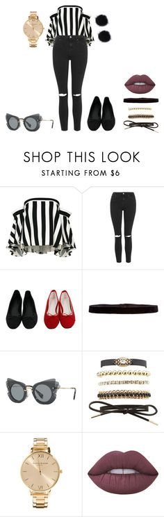 """🕷"" by lena1612 ❤ liked on Polyvore featuring Milly, Topshop, Steve Madden, Miu Miu, Charlotte Russe, Olivia Burton and Lime Crime"