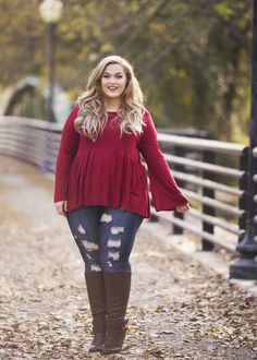 Plus Size Clothing for Women - Loey Lane Trapeze Top (Sizes 14 - 20) - Society+ - Society Plus - Buy Online Now! - 1