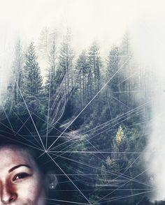 MULTIPLE EXPOSURE | PORTRAIT | FOREST