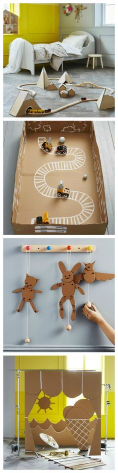 Got some cardboard lying around? Have some fun with these DIY'S!