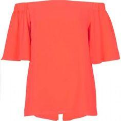 River Island Womens Orange bardot top