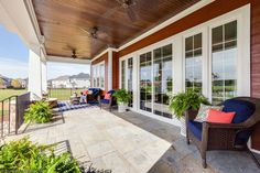 This rear #porch offers plenty of space to relax and enjoy the outdoors! The Rangemoss - Plan 1211. http://www.dongardner.com/house-plan/1211/the-rangemoss. #OutdoorLiving #DreamHome