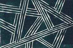 Buy Modern Intersecting Lines, Abstract Industrial Linocut Print by tonipoint as a matted print, mounted print, canvas print, framed print, or art prints