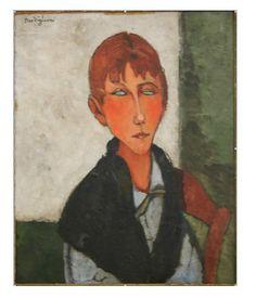 Амедео Модильяни -  Хозяйка  (1917) - Частная коллекция
