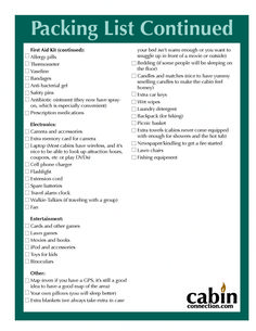 Cabin Trip Packing List (page de Munck McCrum Dew Camping Packing, Camping Checklist, Family Camping, Go Camping, Packing Hacks, Packing Ideas, Family Trips, Camping Stuff, Camping Meals