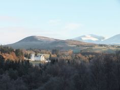 Blair Castle this morning