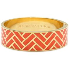 Off The Beaten Path Hinged Bangle ($66) ❤ liked on Polyvore featuring jewelry, bracelets, accessories, bangles, orange, bracelets bangle, orange bangle bracelet, hinged bracelet, geometric jewelry and engraved jewelry