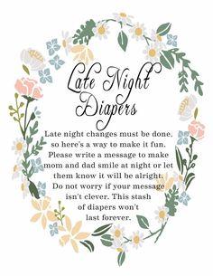 Late night diaper signage                                                       …