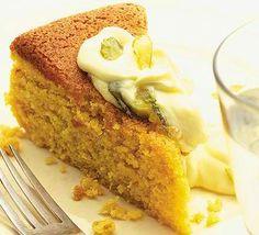 Orange And Almond Cake With Citrus Mascarpone Dessert Recipe..