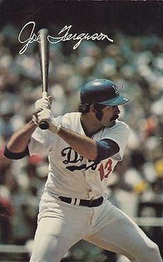 1970's Los Angeles Dodgers Joe Ferguson Team Issued Baseball Postcard