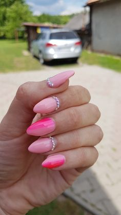 New#pink#ombre#summer#nails❤