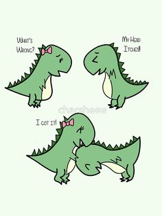 Itchy Head Dinos! by charsheee