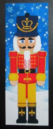 Nutcracker Christmas Step by Step Large Dl Card by Davina Rundle