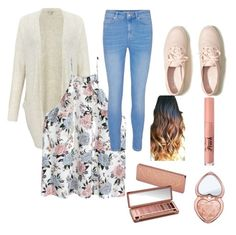 """School style"" by brodymadison on Polyvore featuring Miss Selfridge, H&M, Hollister Co., Urban Decay and Too Faced Cosmetics"