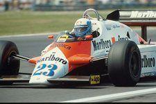 Mauro Baldi(I), Alfa Romeo 183T, 7th place British Grand Prix, 16 July 1983 Silverstone,