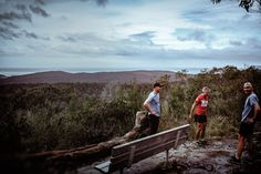 The Trail Runners (2016). While I was at the Aireys Inlet lookout these guys turned up. Normally on my walks, I am alone apart from times when I might cross paths with a walker or mountain biker and we would exchange short greetings and go our separate ways. But this time I spent a few minutes sharing the view with these trail runners; I took my own reminder shot. Aireys Inlet, Vic. Australia. Image: © Gary Light. Creative Commons: (CC BY-NC-ND 4.0).