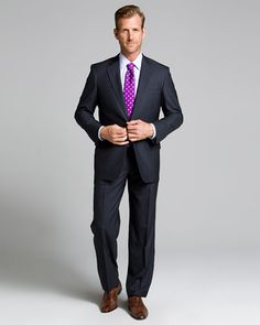 Brooks Brothers Grey Stripe 2-Button Suit