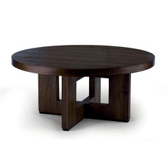 Merveilleux Small Round Coffee Table, Espresso