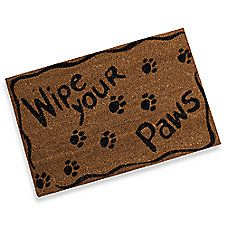 Funny Humorous Pet Themed Doormat Dog Paw Print All