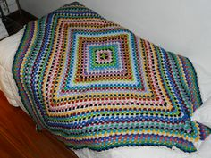 Basically - it's a giant granny square - made one for my daughter's double bed - choose your colors and they turn out beautiful!