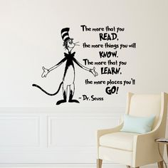 Dr Seuss Wall Decal Dr Seuss Quotes The More That by FabWallDecals