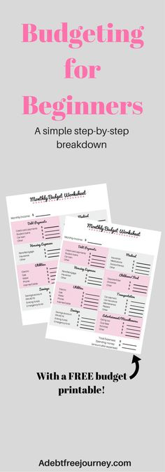 Want to create a budget but don't know where to begin? In this post, I break down the components of a budget and include a free budget sheet! Budgeting Worksheets, Budgeting Finances, Budgeting Tips, Ways To Save Money, Money Tips, Money Saving Tips, Money Budget, Money Hacks, Planning Budget