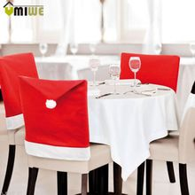 US $12.81 New Year Kitchen Decorations 8 pcs/set Christmas Santa Claus Hat Chair Covers Home Party Dining Table Decoration Christmas Gifts. Aliexpress product
