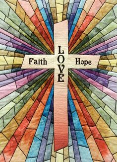 Rays of Hope - Stained Glass version by Carolyn Morris.  Photo by Quilt Inspiration