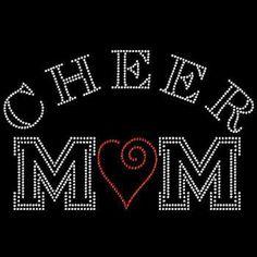 CHEER MOM Rhinestone Design Motif Tshirt by BlingnPrintStreet Sports Mom, Sports Gifts, Etsy Shop Names, My Etsy Shop, Bling Shirts, Cheer Mom, Rhinestone Transfers, Cool T Shirts, Mom Shirts